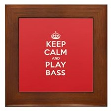 Keep Calm Play Bass Framed Tile
