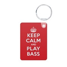 Keep Calm Play Bass Keychains