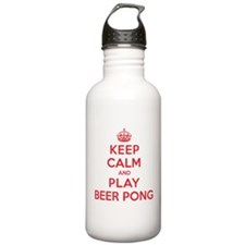 Keep Calm Play Beer Pong Water Bottle
