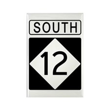 Route 12 South Rectangle Magnet