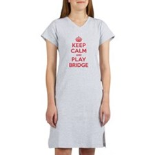 Keep Calm Play Bridge Women's Nightshirt