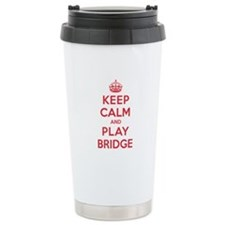 Keep Calm Play Bridge Ceramic Travel Mug