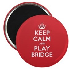Keep Calm Play Bridge Magnet