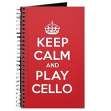 Keep Calm Play Cello Journal