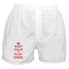 Keep Calm Play Chess Boxer Shorts