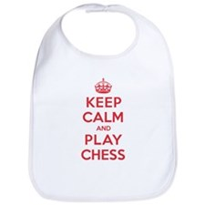 Keep Calm Play Chess Bib