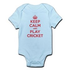 Keep Calm Play Cricket Infant Bodysuit