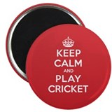 "Keep Calm Play Cricket 2.25"" Magnet (100 pack)"
