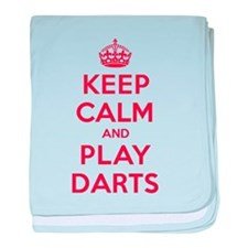 Keep Calm Play Darts baby blanket