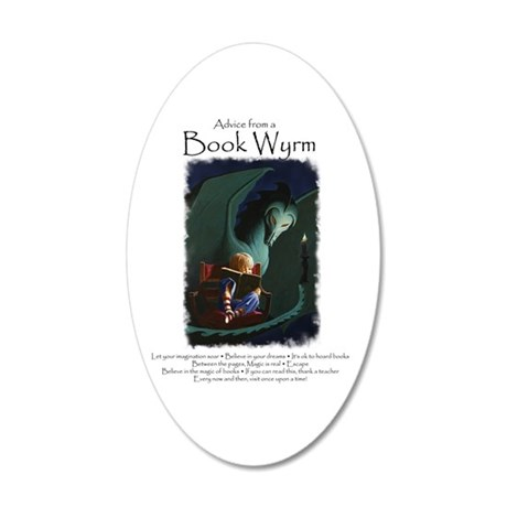 Advice from a Book Wyrm 35x21 Oval Wall Decal