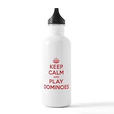 Keep Calm Play Dominoes Water Bottle