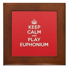 Keep Calm Play Euphonium Framed Tile