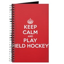 Keep Calm Play Field Hockey Journal