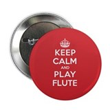 "Keep Calm Play Flute 2.25"" Button (100 pack)"