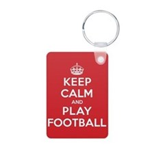 Keep Calm Play Football Keychains