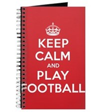 Keep Calm Play Football Journal