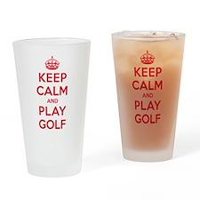 Keep Calm Play Golf Drinking Glass