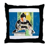 Seamstress Dressmaker Tailor Vintage Throw Pillow