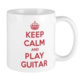 Keep Calm Play Guitar Coffee Mug