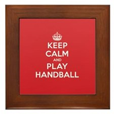 Keep Calm Play Handball Framed Tile