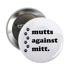 "mutts against mitt 2.25"" Button"
