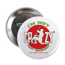 "Im Not Crazy (lacrosse) 2.25"" Button"