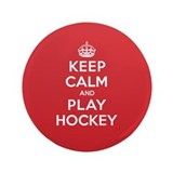"Keep Calm Play Hockey 3.5"" Button (100 pack)"