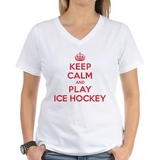 Keep Calm Play Ice Hockey Shirt