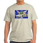 Fort Devens Massachusetts (Front) Ash Grey T-Shirt