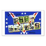Fort Devens Massachusetts Rectangle Sticker