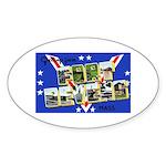 Fort Devens Massachusetts Oval Sticker
