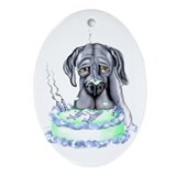 Dane Birthday Blue UC Oval Ornament