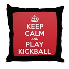 Keep Calm Play Kickball Throw Pillow