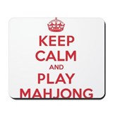Keep Calm Play Mahjong Mousepad