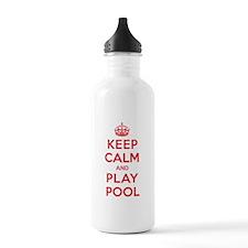 Keep Calm Play Pool Water Bottle