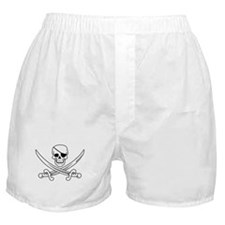 Eyepatch Skull & Crossed Swords Boxer Shorts