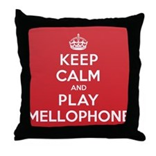 Keep Calm Play Mellophone Throw Pillow