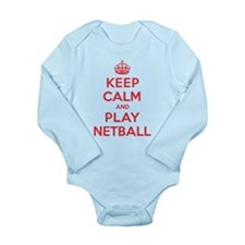 Keep Calm Play Netball Long Sleeve Infant Bodysuit
