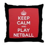 Keep Calm Play Netball Throw Pillow