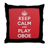 Keep Calm Play Oboe Throw Pillow