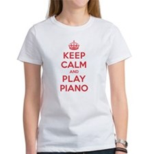 Keep Calm Play Piano Tee