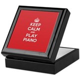 Keep Calm Play Piano Keepsake Box
