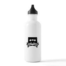 Cassette Jolly Roger Black Water Bottle