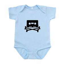 Cassette Jolly Roger Black Infant Bodysuit