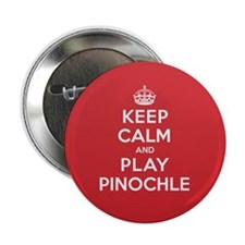 "Keep Calm Play Pinochle 2.25"" Button"