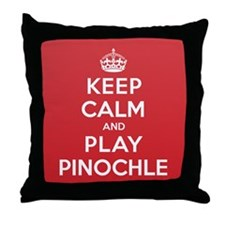 Keep Calm Play Pinochle Throw Pillow