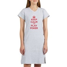Keep Calm Play Poker Women's Nightshirt