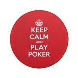 "Keep Calm Play Poker 3.5"" Button"
