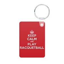 Keep Calm Play Racquetball Keychains