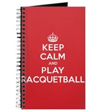 Keep Calm Play Racquetball Journal